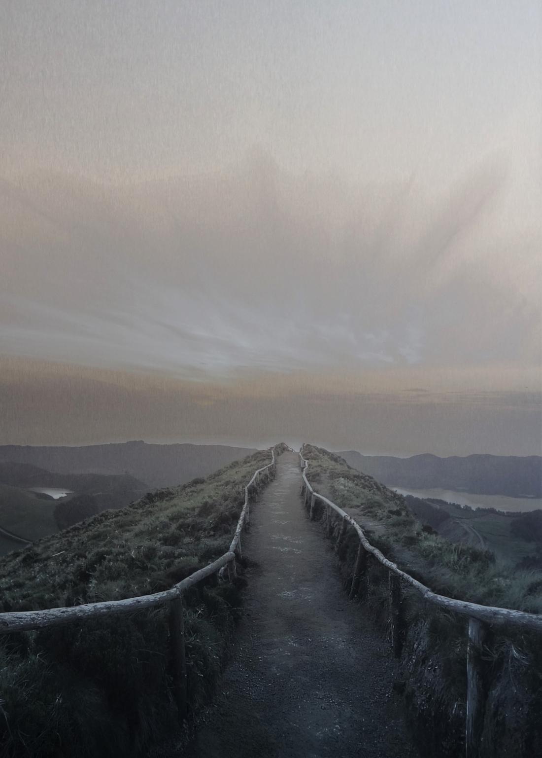 Dibond berglandschap 70x100