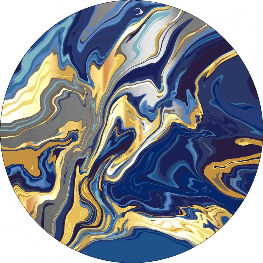 Dibond abstract rond 100x100