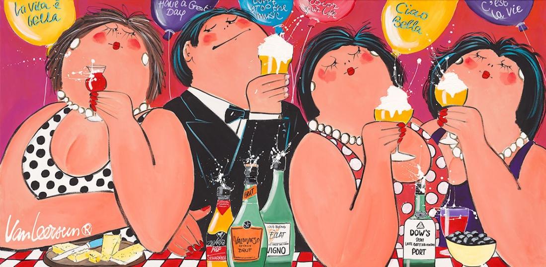 Schilderij Celebrate 70x140