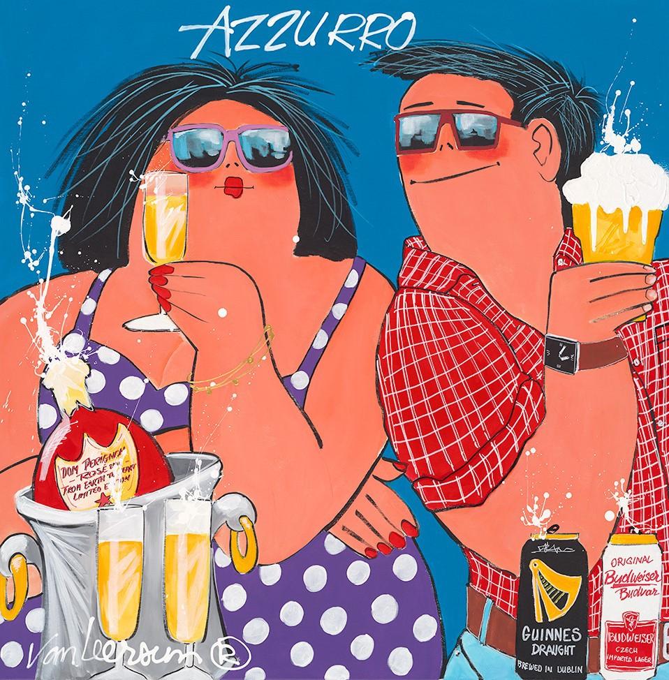 Schilderij Azzurro 80x80