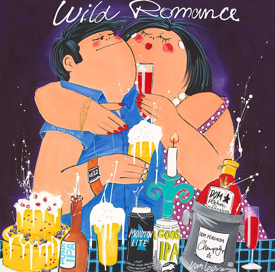 Schilderij Wild Romance 90x90