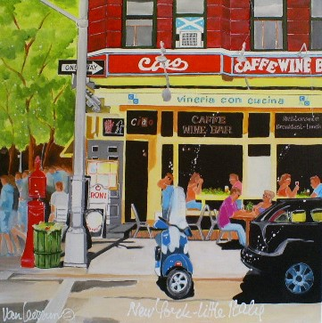 El van Leersum New York - Little Italy 80x80