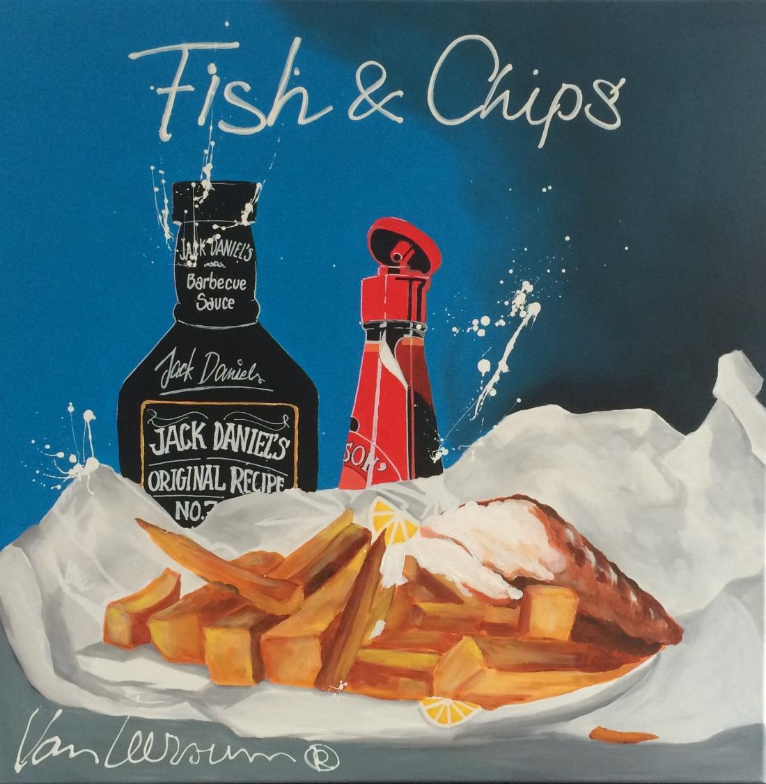 El van Leersum origineel 'Fish & Chips' 80x80