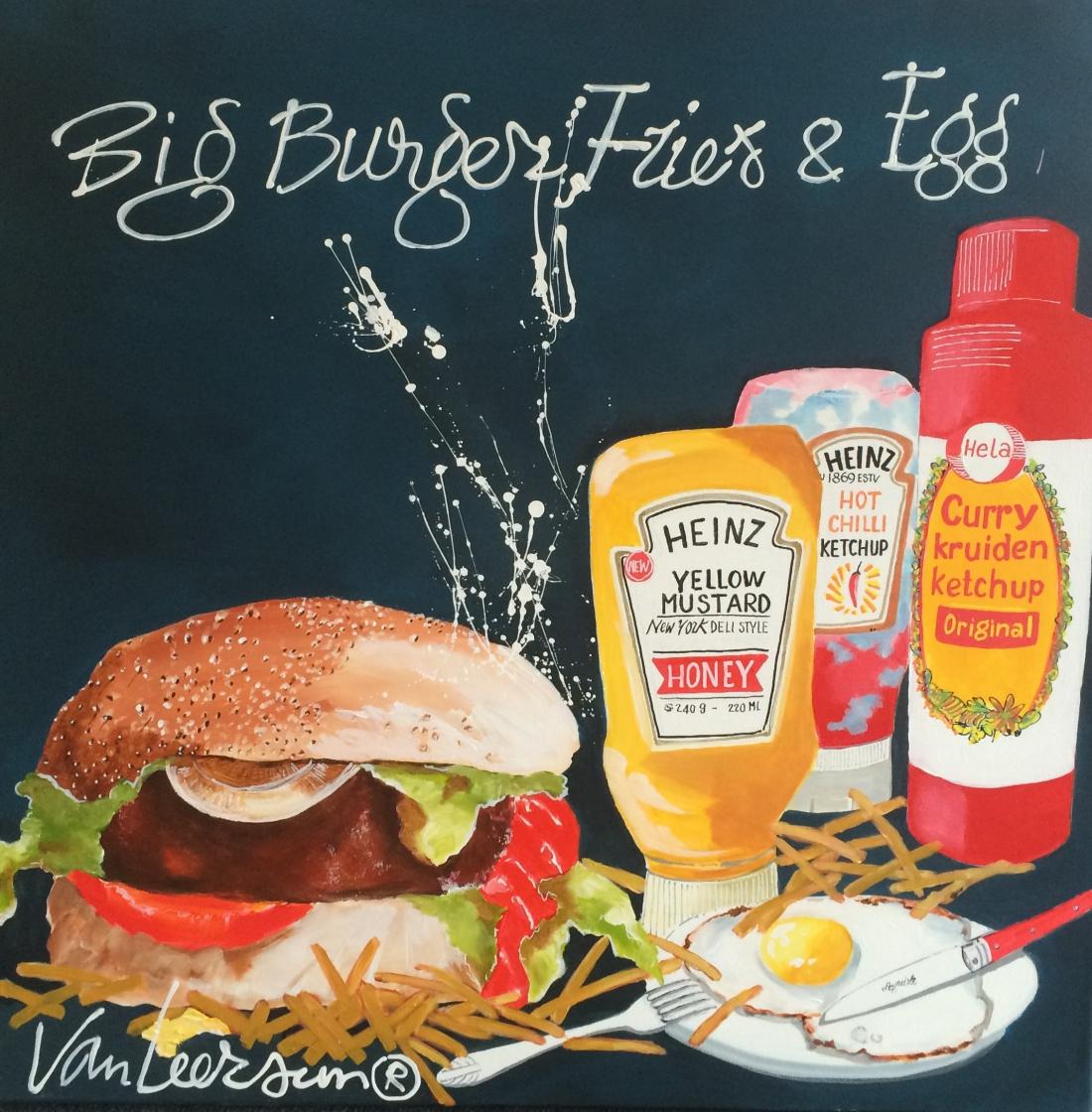 Schilderij El van Leersum Big Burger 80x80