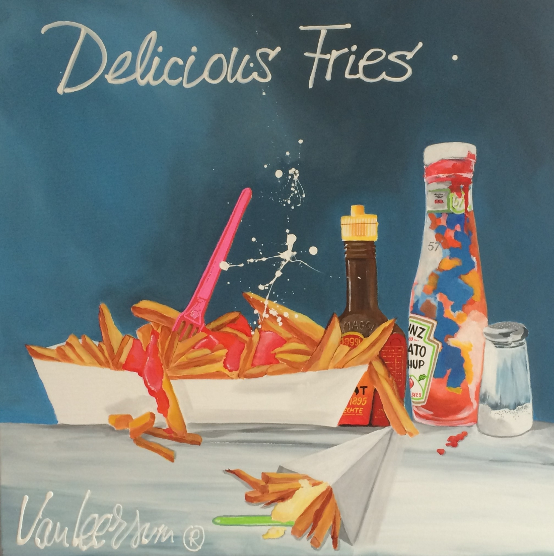 Schilderij El van Leersum Delicious Fries 80x80