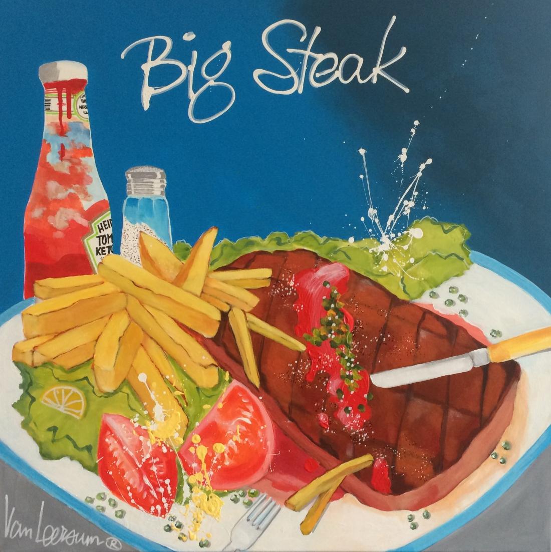 El van Leersum origineel 'Big steak' 80x80