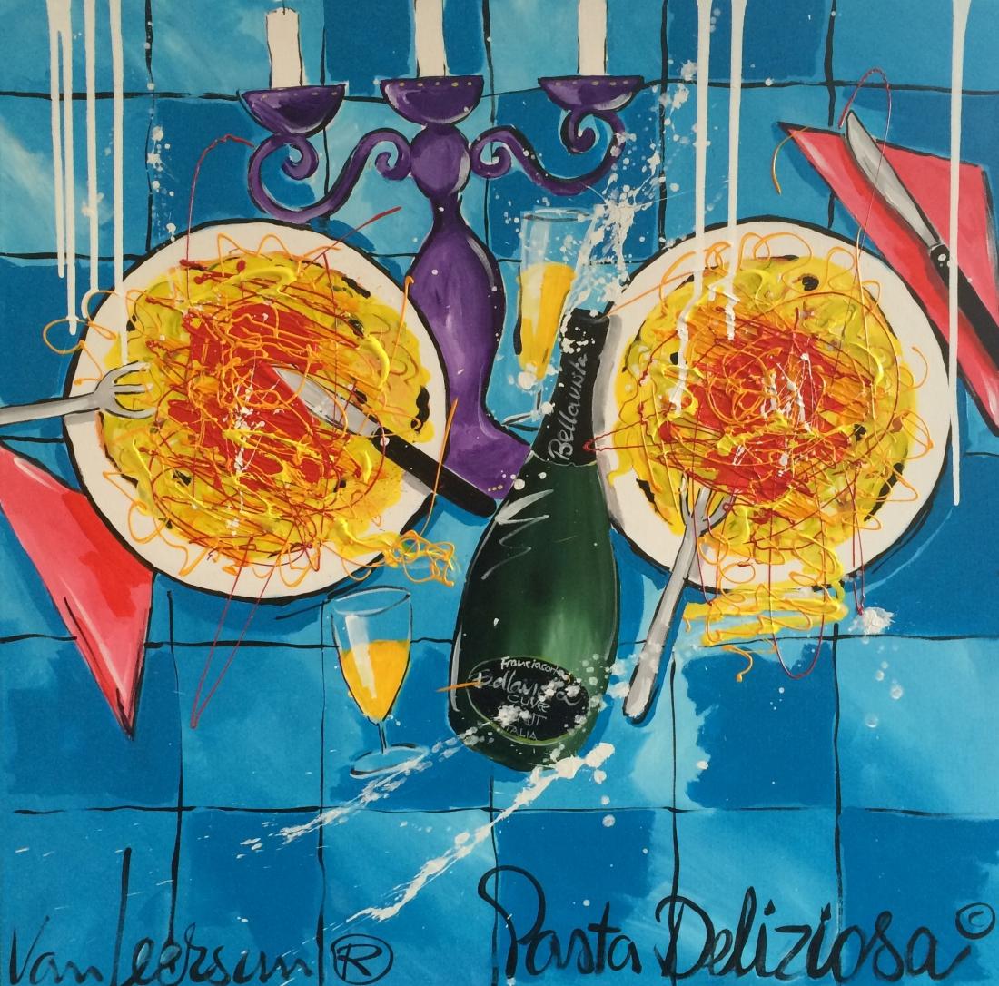 Schilderij El van Leersum Pasta Deliziosa 90x90