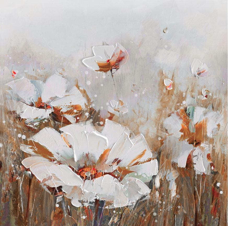 schilderij bloem 80x80