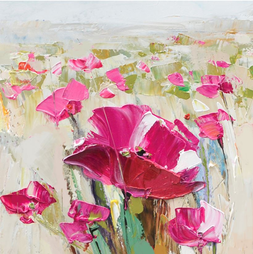 schilderij bloemenveld 60x60