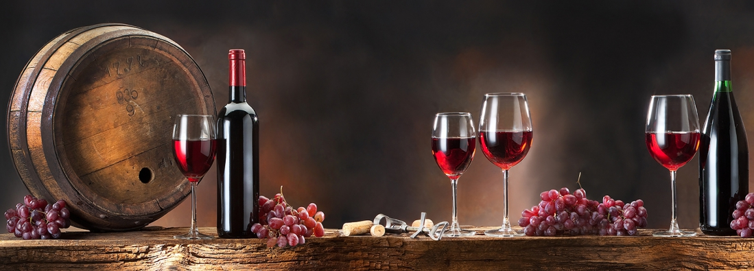 Wijn op glas 30x80