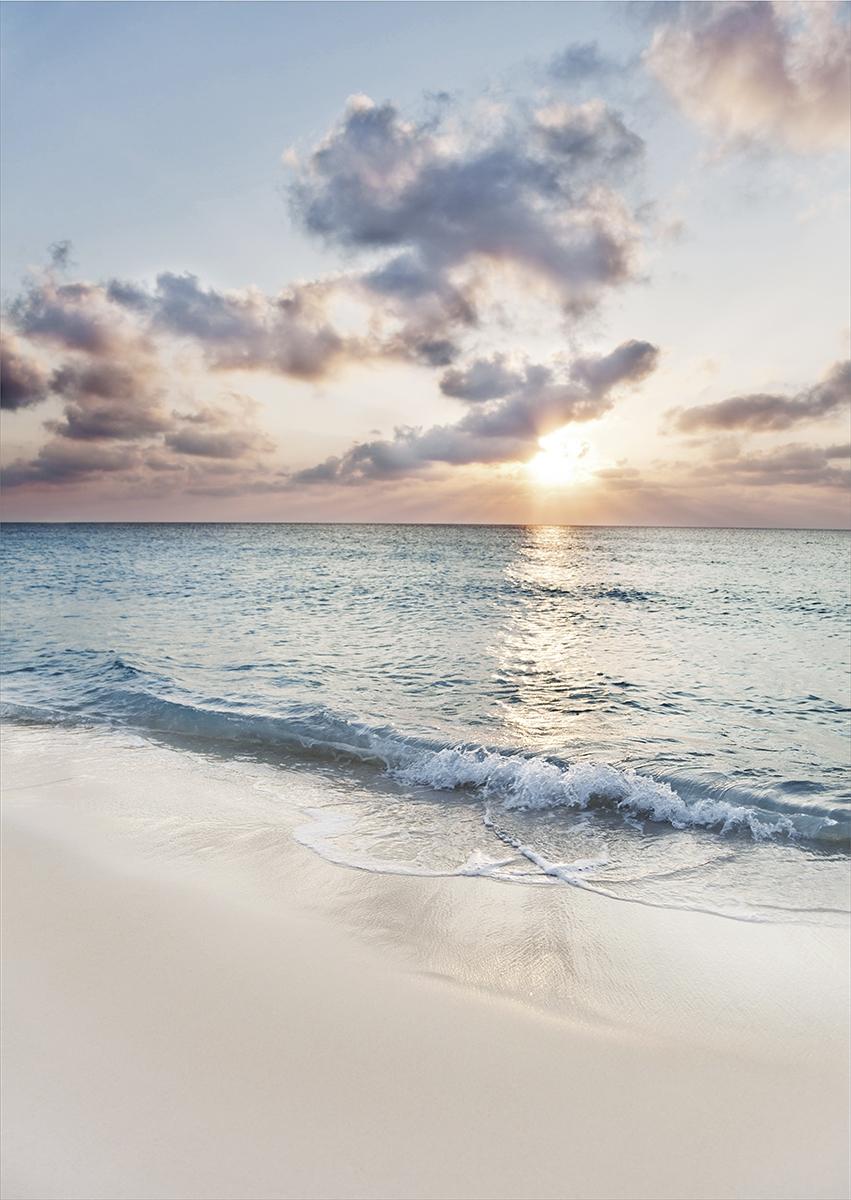 Beach day op glas 70x100