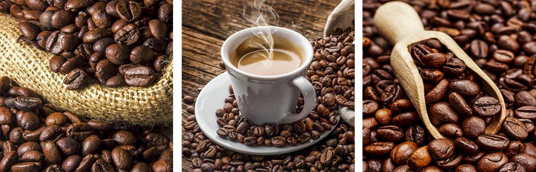 Fotokunst koffie op glas 20x60