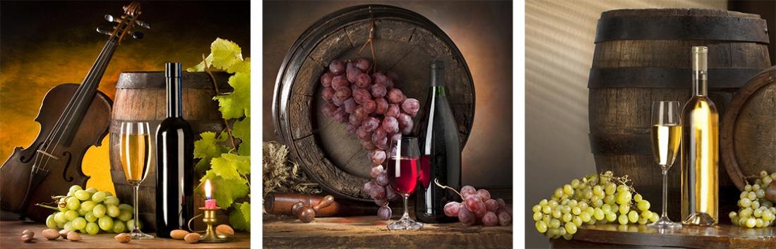 Fotokunst wijnen op glas 20x60