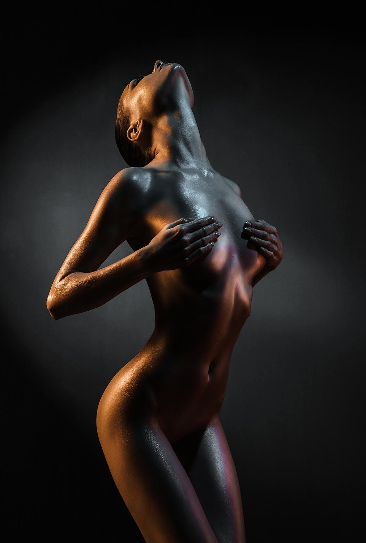 Woman op glas 80x120