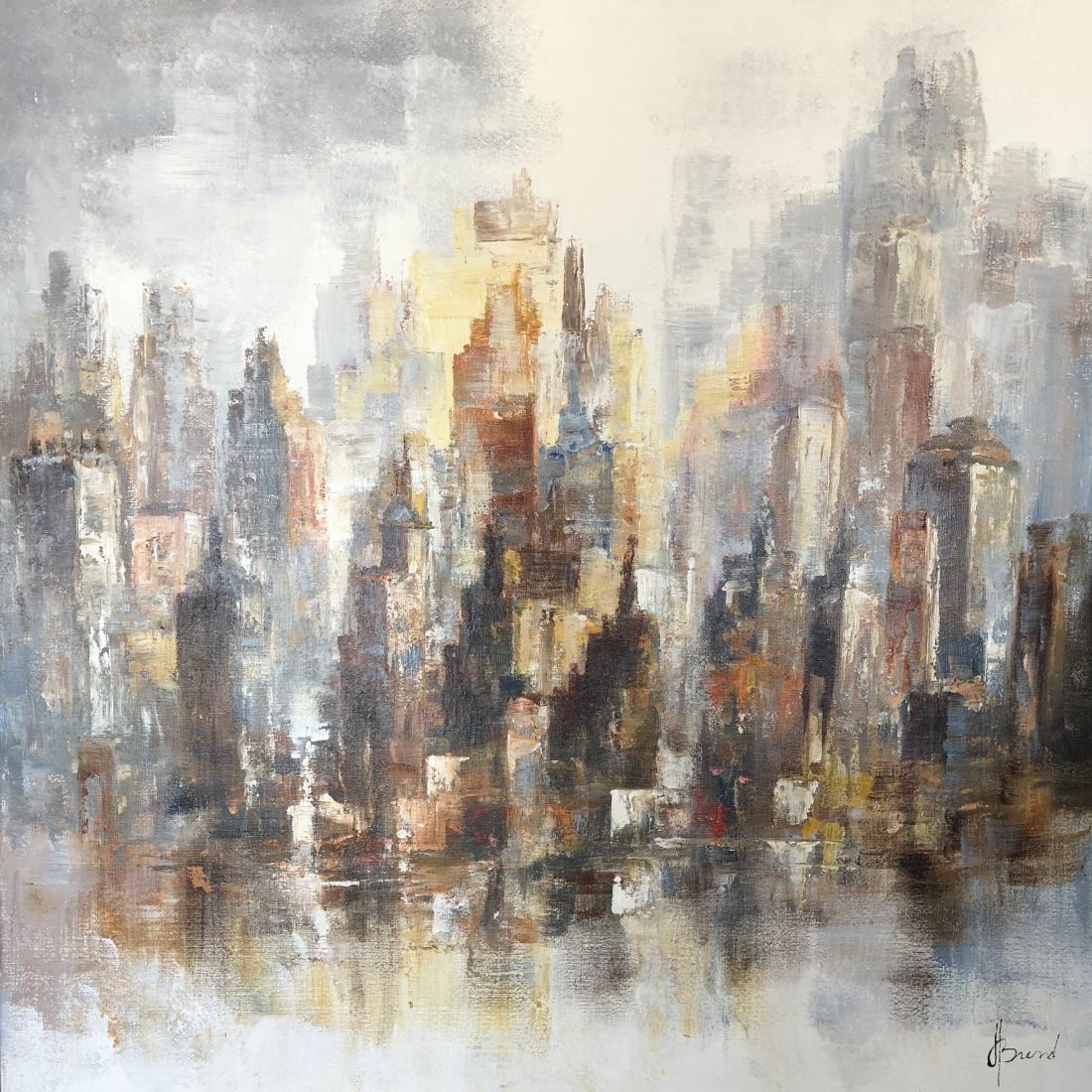 Schilderij Stadsgezicht 100x100