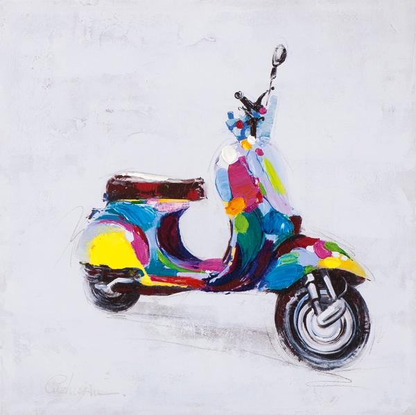 schilderij Vespa scooter 40x40