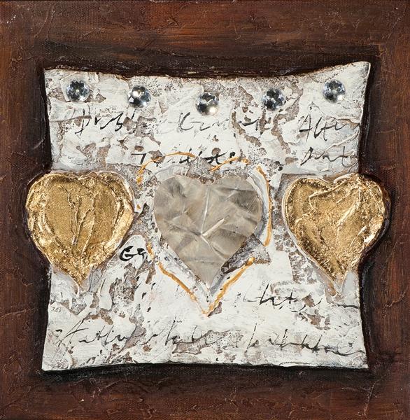 schilderij hart 25x25