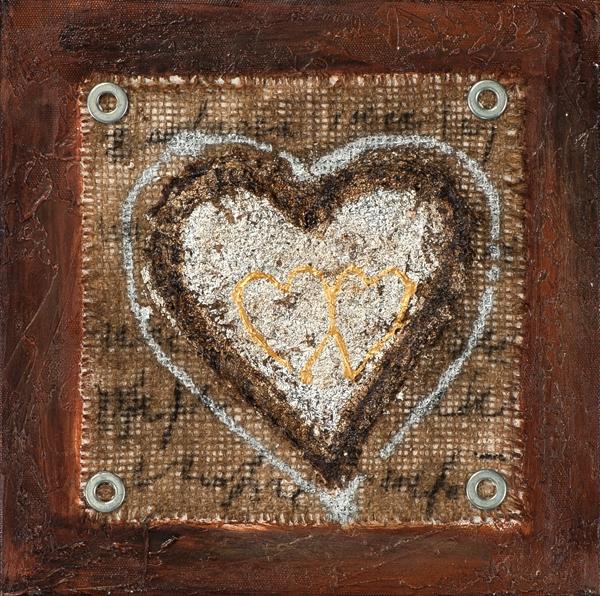 ilxe1011- schilderij hart 25x25