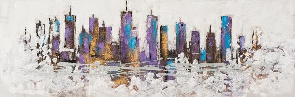 schilderij modern skyline 50x150