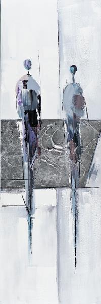 Schilderij 40x120 Persoon