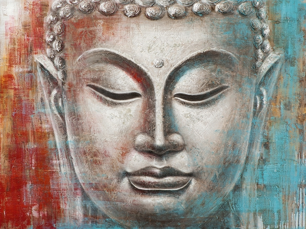 Schilderij Boeddha 90x120
