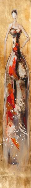 schilderij 25x150 figuratief