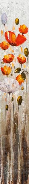 schilderij 25x150 bloemen