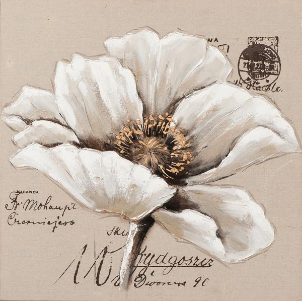 Schilderij bloem 70x70