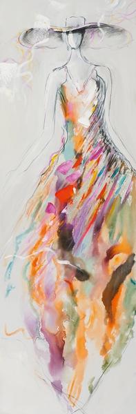 schilderij vrouw 50x150