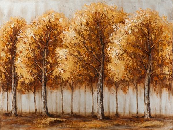 Schilderij 75x100 bomen Nieuw!