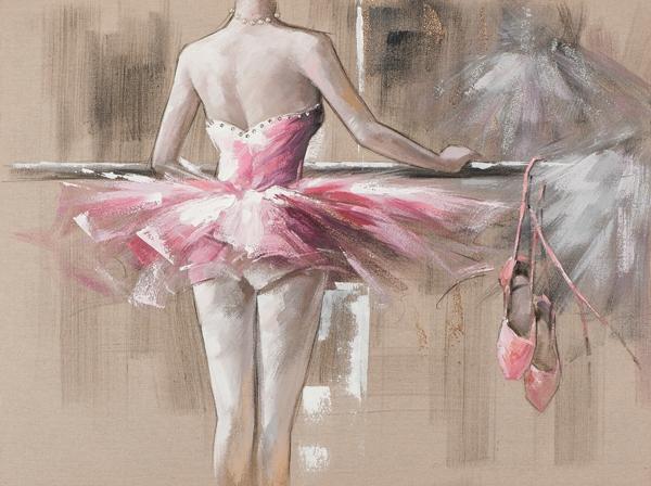 schilderij ballerina 90x120