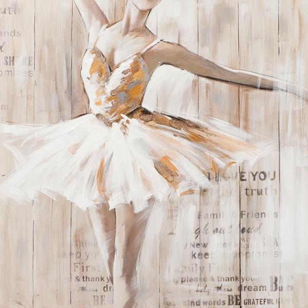 schilderij ballerina 100x100
