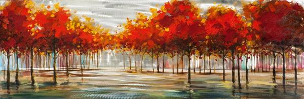 schilderij bomen 50x150 Nieuw!