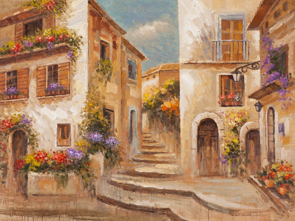 Schilderij Toscane 90x120