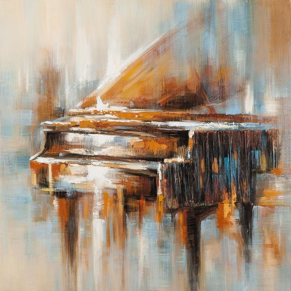 schilderij piano 100x100