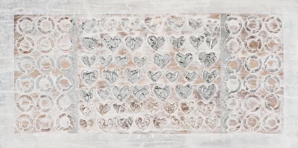 schilderij zilver 70x140