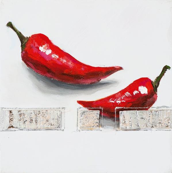 schilderij peper 25x25