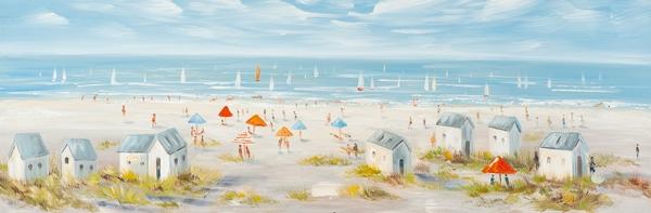 schilderij 50x150 Duinlandschap