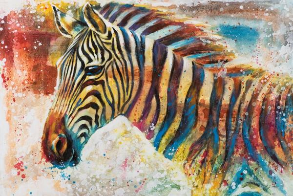 schilderij zebra 80x120