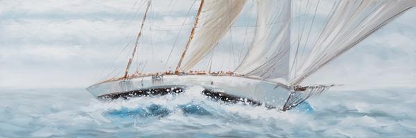 schilderij 50x150 boten
