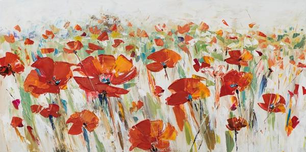 schilderij 70x140 bloemen