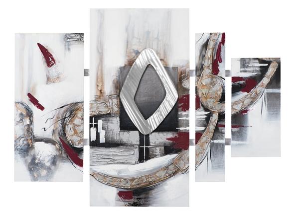 4 luik schilderij modern 100x134