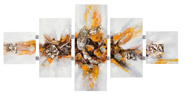 5 luik schilderij modern 80x162