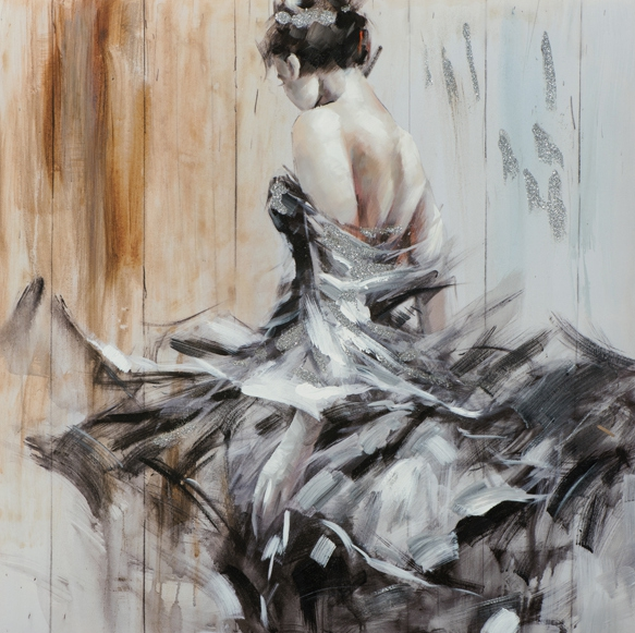schilderij danseres 100x100