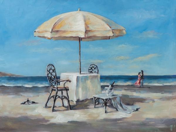Schilderij strand 90x120