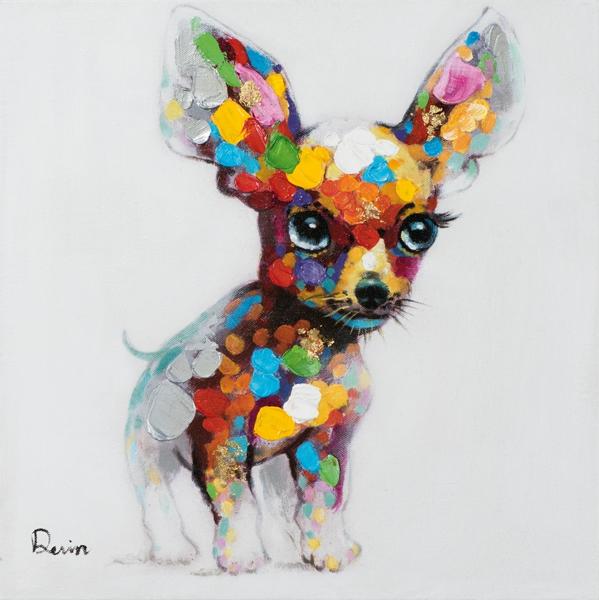 Schilderij chihuahua 50x50