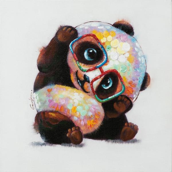 Schilderij panda 50x50