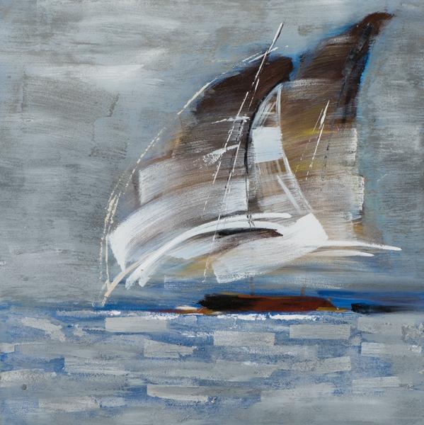 schilderij 100x100 zeilboten