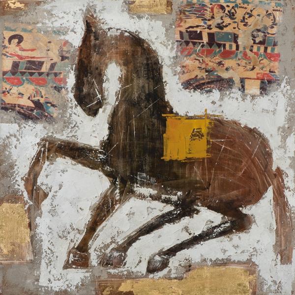 schilderij paard 100x100 modern