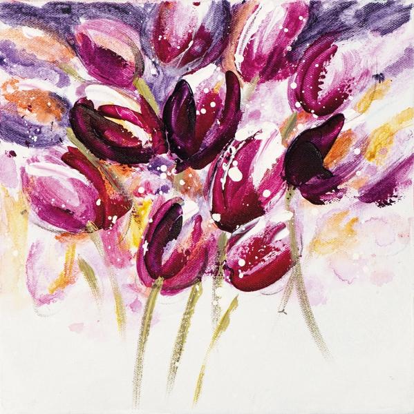 schilderij tulp  25x25